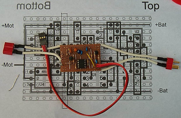 12f675 based brushed motor esc more construction examples